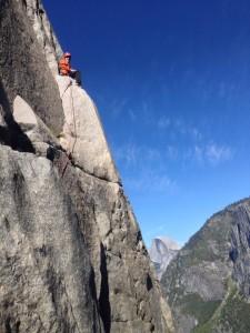 Tyler climbing El Capitan