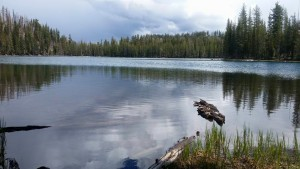 One of the many lakes along the hike