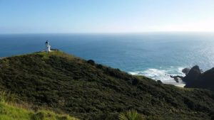 Cape Reinga's lighthouse and promontory